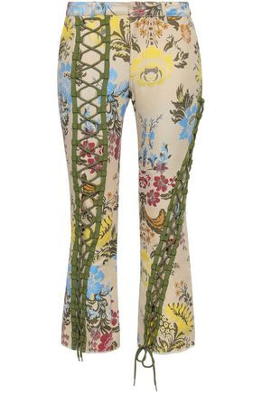 MARQUES' ALMEIDA Cropped cotton-blend brocade bootcut pants