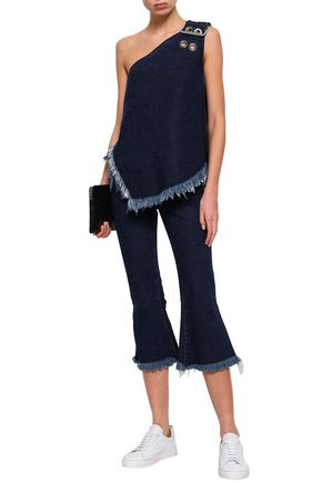 MARQUES' ALMEIDA Frayed low-rise kick-flare jeans