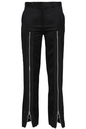 MARQUES' ALMEIDA Zip-detailed cotton-blend twill straight-leg pants