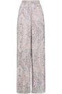 ZIMMERMANN Printed flocked silk-blend wide-leg pants