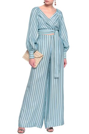 ZIMMERMANN Striped twill wide-leg pants