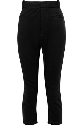 HAIDER ACKERMANN Cropped button-detailed cotton tapered pants