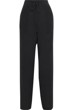 HAIDER ACKERMANN Silk crepe de chine wide-leg pants