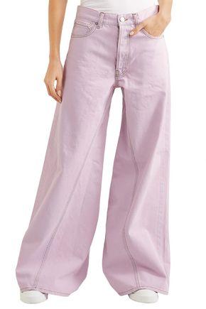 GANNI High-rise wide-leg jeans