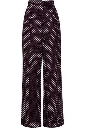 ZIMMERMANN Polka-dot washed-crepe wide-leg pants