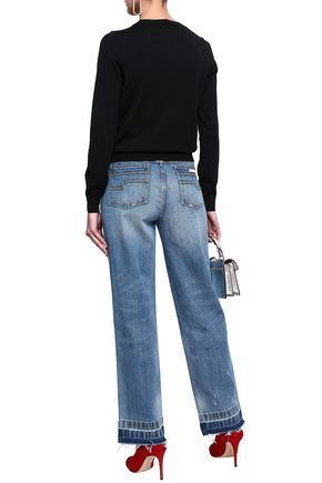 MARC JACOBS Faded high-rise straight-leg jeans