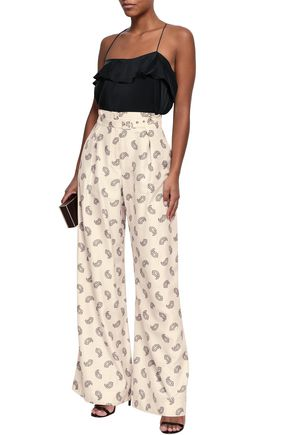 ZIMMERMANN Printed silk wide-leg pants