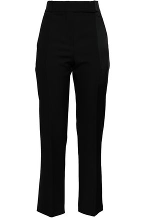 HAIDER ACKERMANN Satin-trimmed virgin wool straight-leg pants