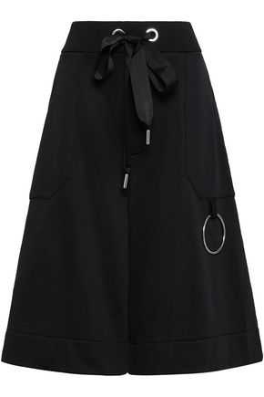 MARQUES' ALMEIDA Embellished French cotton-blend terry culottes