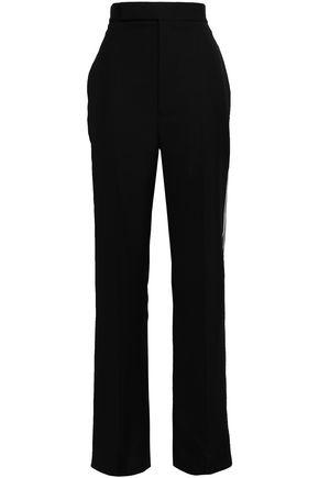 HAIDER ACKERMANN Embroider-trimmed virgin wool straight-leg pants