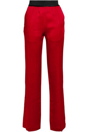HAIDER ACKERMANN Crepe-satin straight-leg pants