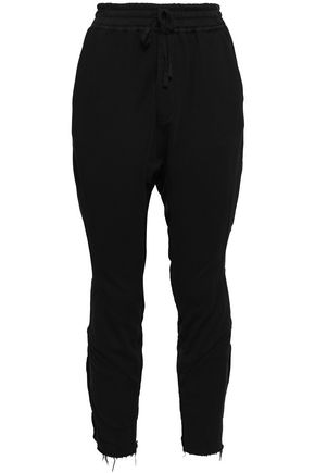 HAIDER ACKERMANN Cropped cotton-twill track pants
