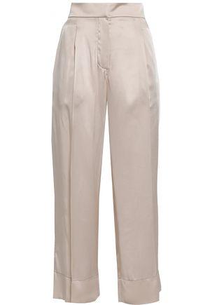 BRUNELLO CUCINELLI Crepe-satin wide-leg pants