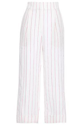 BRUNELLO CUCINELLI Pinstriped linen wide-leg pants
