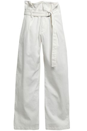 BRUNELLO CUCINELLI Belted high-rise wide-leg jeans