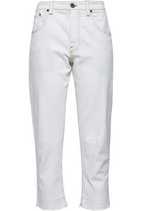BRUNELLO CUCINELLI Cropped high-rise boyfriend jeans