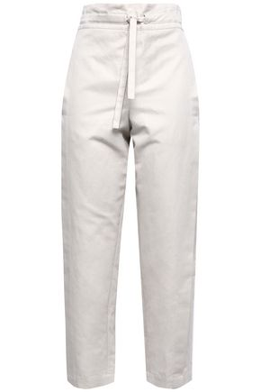 BRUNELLO CUCINELLI Cotton-blend gabardine tapered pants