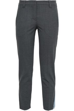 BRUNELLO CUCINELLI Cropped wool-blend slim-leg pants