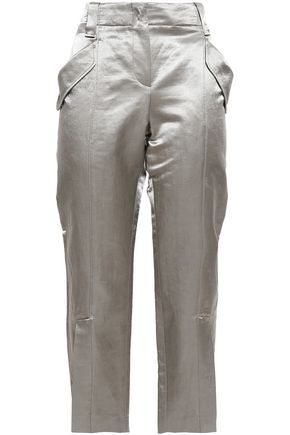 BRUNELLO CUCINELLI Satin straight-leg pants