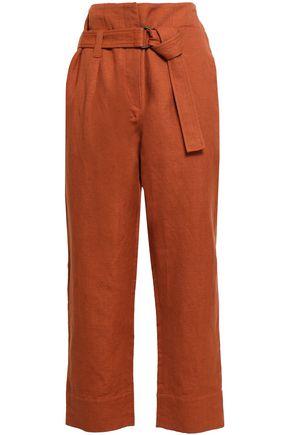 BRUNELLO CUCINELLI Cotton and linen-blend straight-leg pants