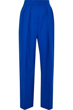 AGNONA Pleated wool wide-leg pants