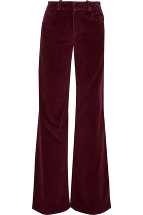 OSCAR DE LA RENTA Cotton-corduroy wide-leg pants