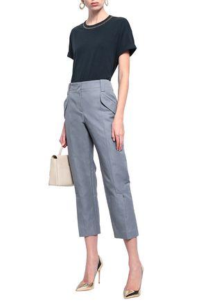 BRUNELLO CUCINELLI Cotton-blend gabardine tapered pants