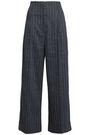 BRUNELLO CUCINELLI Pinstriped linen-blend wide-leg pants