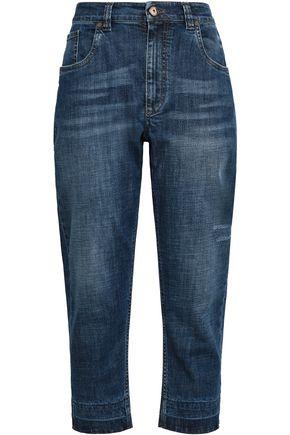 BRUNELLO CUCINELLI Distressed high-rise boyfriend jeans