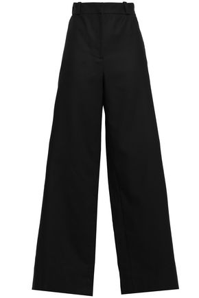 OSCAR DE LA RENTA Cotton-twill wide-leg pants