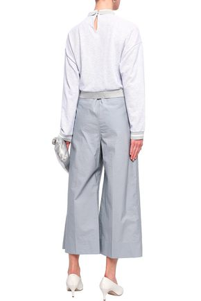 BRUNELLO CUCINELLI Crinkled cotton-blend culottes