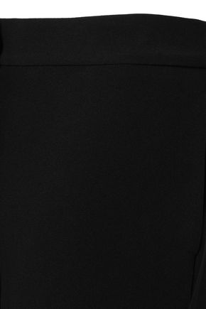 OSCAR DE LA RENTA Cropped crepe wide-leg pants