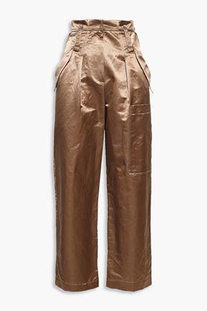 BRUNELLO CUCINELLI Satin straight-leg pants