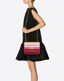 Medium Rockstud Spike.It Bag with Stripe Intarsia