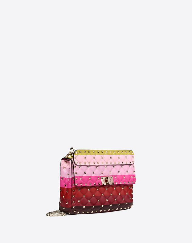 Medium Rockstud Spike.It Bag with Stripe Intarsia