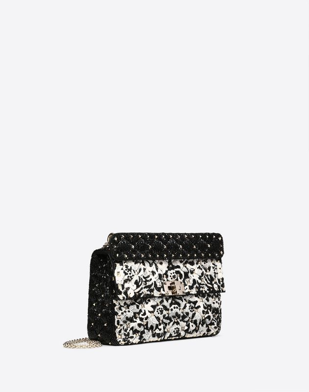 Medium Rockstud Spike.It Bag with Lace and Bead Detailing