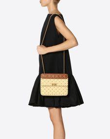 Medium Rockstud Spike Raffia Bag