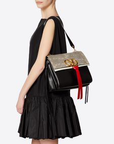 Medium VRING Lizard Shoulder Bag