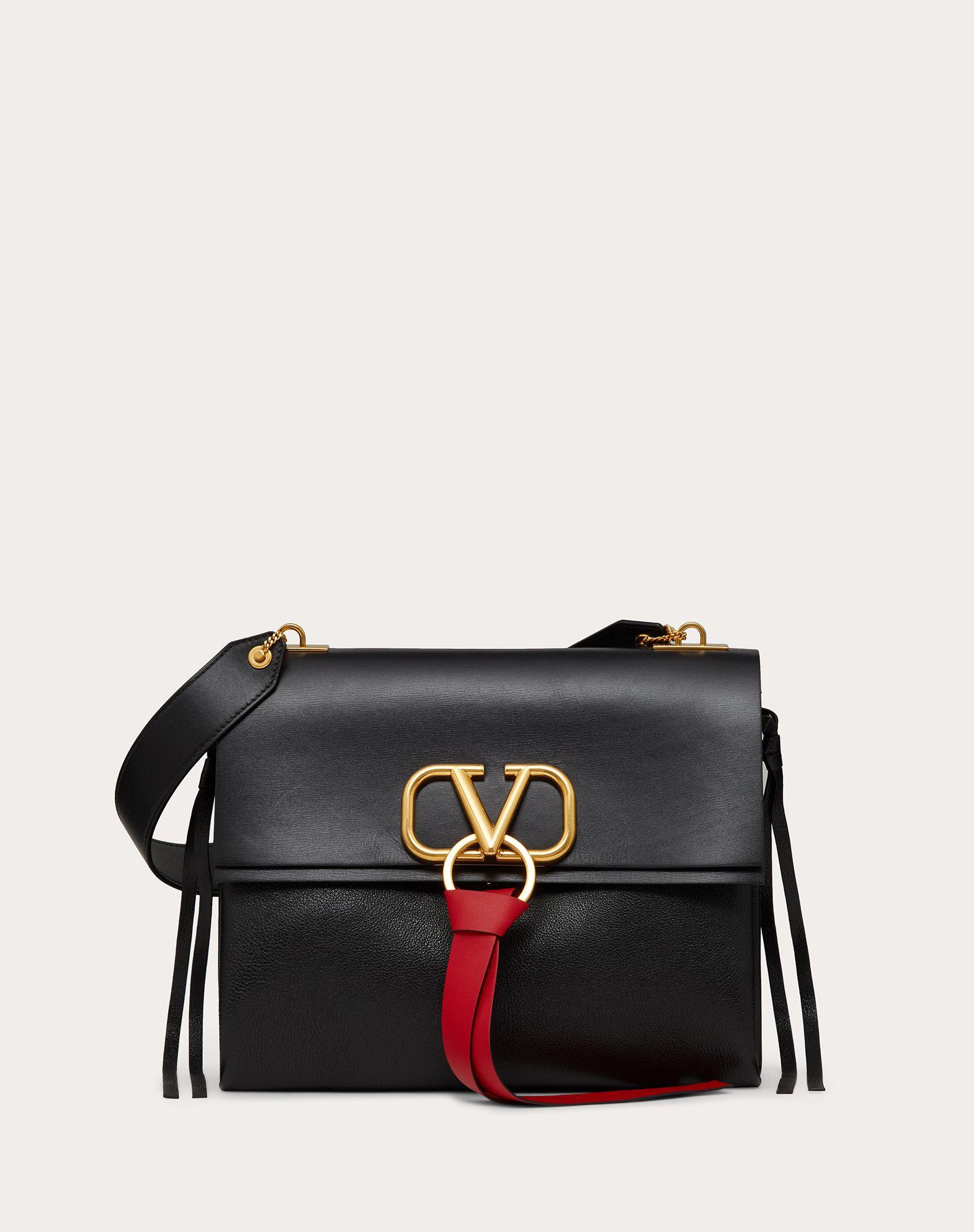 Medium VRing Smooth Calfskin Shoulder Bag