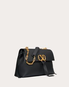 Medium VRing Grainy Calfskin Chain Bag