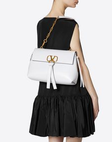 Medium Vring Smooth Calfskin Chain Bag