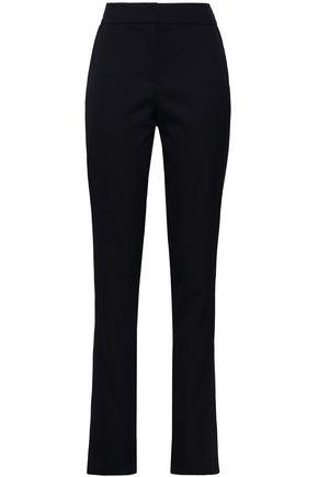 OSCAR DE LA RENTA Wool-blend slim-leg pants
