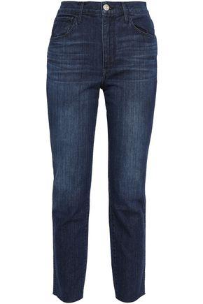 3x1 Cropped high-rise straight-leg pants