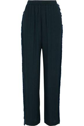 STELLA McCARTNEY Frayed cloqué straight-leg pants