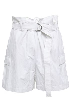 BRUNELLO CUCINELLI Belted cotton-blend shorts