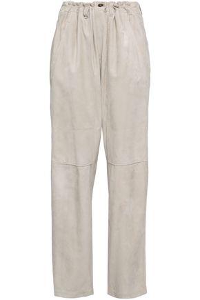 BRUNELLO CUCINELLI Suede straight-leg pants