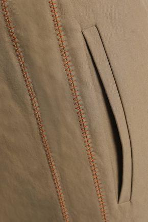 BRUNELLO CUCINELLI Cotton-blend canvas straight-leg pants