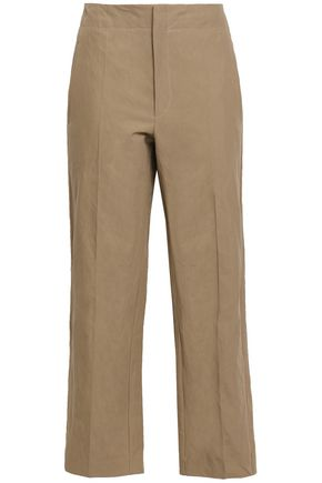 BRUNELLO CUCINELLI Cotton-blend canvas straight-leg pants