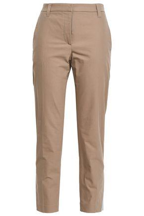 BRUNELLO CUCINELLI Cropped stretch-cotton twill slim-leg pants