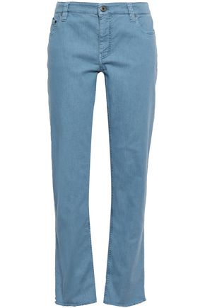 BRUNELLO CUCINELLI Cropped mid-rise straight-leg jeans